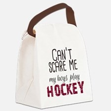 Cant Scare Me My Boys Play Hockey Canvas Lunch Bag