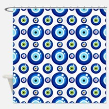 Evil eye protection pattern design Shower Curtain