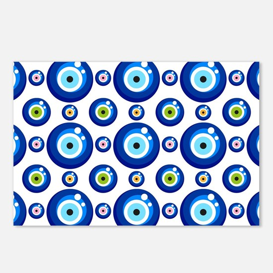 Evil eye protection patte Postcards (Package of 8)