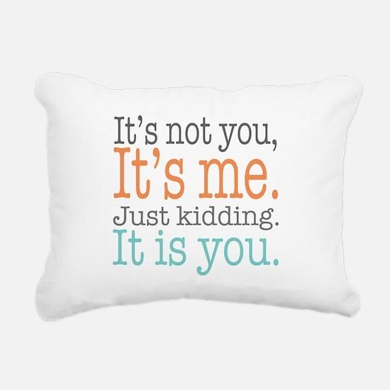 It's Not Me Just Kid Rectangular Canvas Pillow