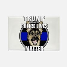 Trump because police matter Rectangle Magnet