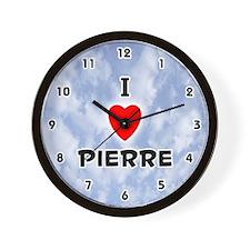 I Love Pierre (Black) Valentine Wall Clock