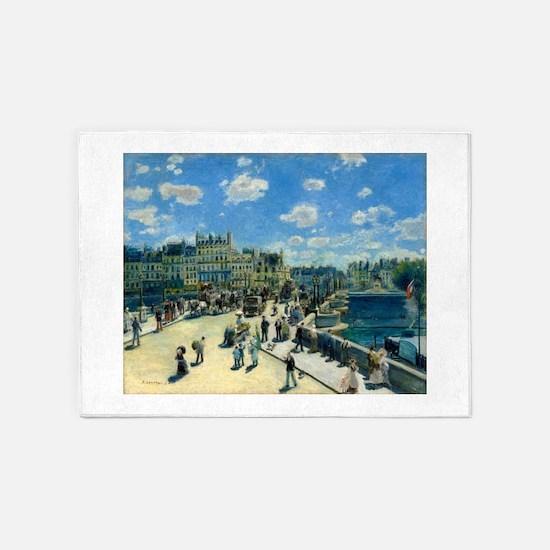 Pont Neuf by Auguste Renoir 5'x7'Area Rug