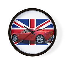 """Chili Red Elise UK"" Wall Clock"