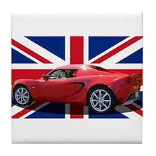 """""""Chili Red Elise UK"""" Tile Coaster"""