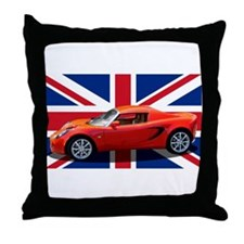 """Chili Red Elise UK"" Throw Pillow"