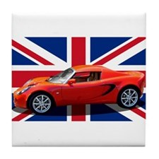 """Chili Red Elise UK"" Tile Coaster"