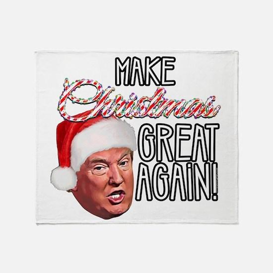 Donald Trump Great Christmas Throw Blanket