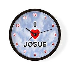 I Love Josue (Red/Blk) Valentine Wall Clock