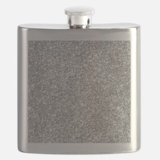 Silver Gray Glitter Texture Flask