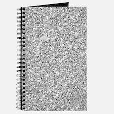 Silver Gray Glitter Texture Journal