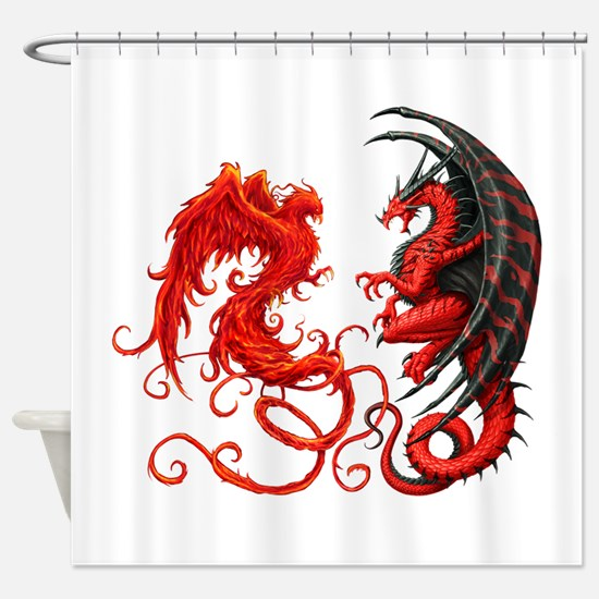Can The Dragon Beat The Phoeni Shower Curtain
