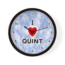 I Love Quint (Black) Valentine Wall Clock