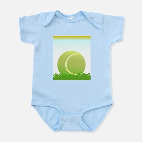 Tennis Ball On Grass Body Suit