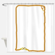 Gold Watch Chain Shower Curtain