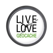 Live Love Geocache Wall Clock
