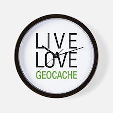 Live Love Geocache Wall Clock