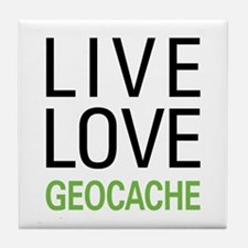 Live Love Geocache Tile Coaster
