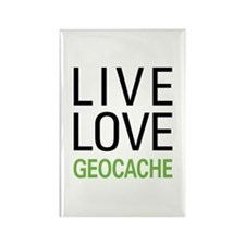 Live Love Geocache Rectangle Magnet