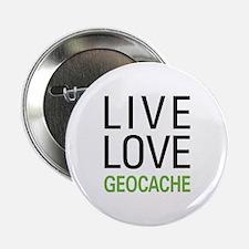 """Live Love Geocache 2.25"""" Button"""