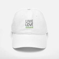 Live Love Geocache Baseball Baseball Cap