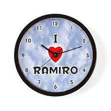 I Love Ramiro (Black) Valentine Wall Clock