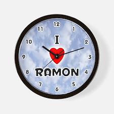 I Love Ramon (Black) Valentine Wall Clock