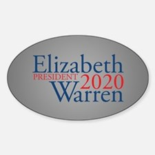 Elizabeth Warren 2020 Sticker (Oval)