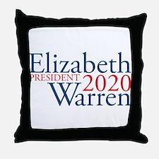 Elizabeth Warren 2020 Throw Pillow