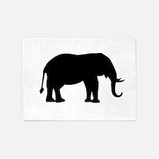 Elephant Silhouette 5'x7'Area Rug