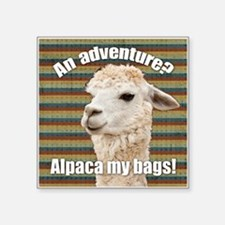 Alpaca My Bags Stripes Sticker