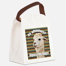 Alpaca My Bags Stripes Canvas Lunch Bag
