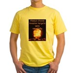 Be Careful Yellow T-Shirt