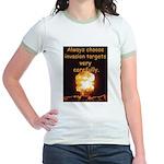 Be Careful Jr. Ringer T-Shirt