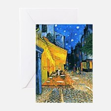 Van Gogh - Cafe Terrace Greeting Cards