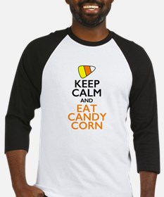 Keep Calm and Eat Candy Corn Baseball Jersey