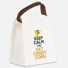 Keep Calm and Eat Candy Corn Canvas Lunch Bag