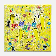 Deaf art Tile Coaster