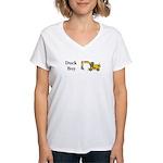 Duck Boy Women's V-Neck T-Shirt