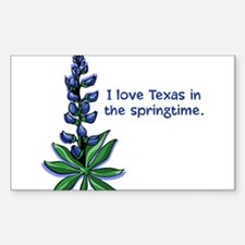 Bluebonnets in the Springtime Sticker (Rectangular