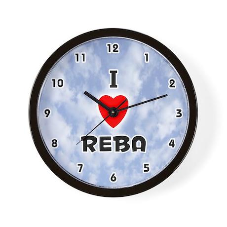I Love Reba (Black) Valentine Wall Clock