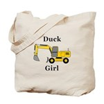 Duck Girl Tote Bag