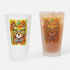 Cat with Bow Tie Drinking Glass