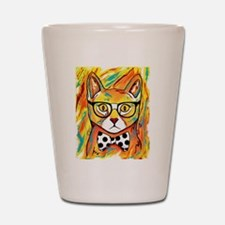 Cat with Bow Tie Shot Glass