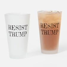 Resist Trump Liberal Drinking Glass