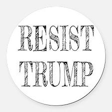 Resist Trump Liberal Round Car Magnet