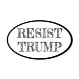 Anti donald trump Oval Car Magnets