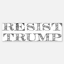 Resist Trump Liberal Sticker (Bumper)