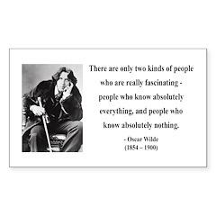 Oscar Wilde 22 Rectangle Decal