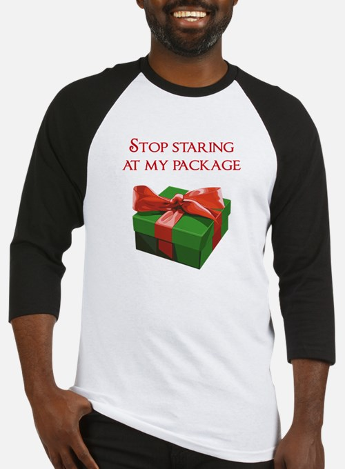 Stop Staring at my Package Christmas Present Baseb